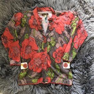 Matilda Jane red floral cardigan in VGUC
